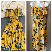 Used Floral off shoulder dress size F in Dubai, UAE