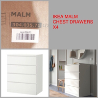 Used IKEA WHITE MALM ( CHEST OF 4 DRAWERS ) in Dubai, UAE