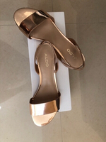 Used Aldo rose gold sandals in Dubai, UAE