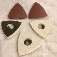Used Triangular sanding pads 6 pieces  in Dubai, UAE