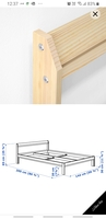 Used Ikea Bed frame + Mattress in Dubai, UAE