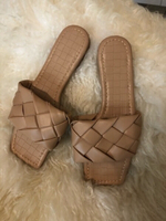 Used Slippers beige size 35 in Dubai, UAE