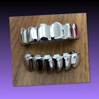 Used FIT HIPHOP SILVER PLATED MOUTH GRILLS in Dubai, UAE