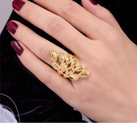 Used 18k Free size Gold Color Ring for Women in Dubai, UAE