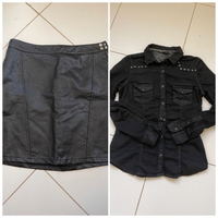 Used Skirt and shirt offer by Zara in Dubai, UAE