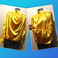 Used New bright yelow silky stretching blouse in Dubai, UAE