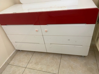Used Red and white dressing table in Dubai, UAE