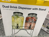 Used Dual Drink Dispenser with Stand in Dubai, UAE