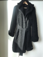 Used Diesel black oversized coat in Dubai, UAE