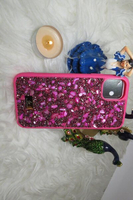 Used I phone11 cover Kingxbar swarovski (new) in Dubai, UAE