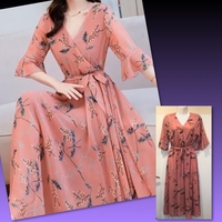 Used # SUMMER FLORAL LONG DRESS// Small in Dubai, UAE