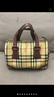 Used BURBERRY CHECK BOSTON BAG(AUTHENTIC) in Dubai, UAE