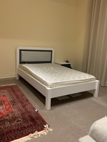 Used Bed 120 x 190 & crystal embroidered lamp in Dubai, UAE