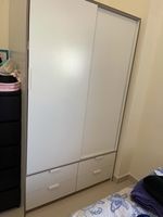 Used IKEA white wardrobe 2 doors 4 drawers  in Dubai, UAE