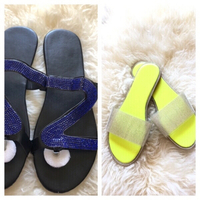 Used 2 pair slippers size 42 Asian size  in Dubai, UAE