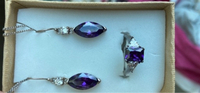 Used Real 925 silver set earrings and ring in Dubai, UAE