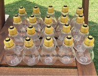 Used Bulb shaped glass container set of 20 in Dubai, UAE
