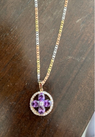 Used Gold plated chain and pendant in Dubai, UAE