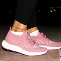 Used Women pink sports shoes comfortable new in Dubai, UAE