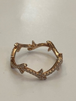 Used 925 Sterling silver gold plated ring  in Dubai, UAE