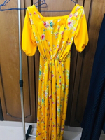 Used Yellow opendress of Meherma's collection in Dubai, UAE