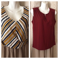 Used Tops 2 pcs size L in Dubai, UAE