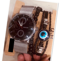 Used Set men watch & Bracelet ♥️ in Dubai, UAE