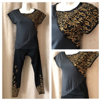 Used Sport outfit شغف top& pants XS  in Dubai, UAE
