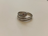 Used Snake ring with red stone silver  in Dubai, UAE