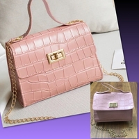 Used MINI PINK CROCODILE PATTERN BAG in Dubai, UAE