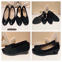 Used Black office shoes size 37  in Dubai, UAE