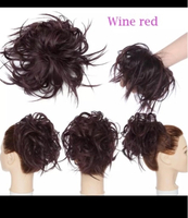 Used Wine red hair bun extension messy  in Dubai, UAE