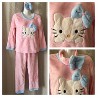 Used Flannel Pyjama size L pink in Dubai, UAE