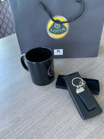 Used NEW chrome leather Lotus Key Ring in Dubai, UAE