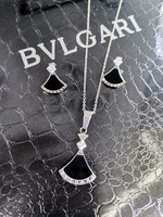 Used BVLGARI necklace and earrings in box in Dubai, UAE