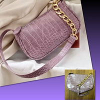 Used MINI PURPLE CROCODILE BAG  in Dubai, UAE