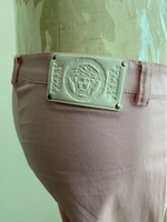 Used Authentic Versace trousers pink in Dubai, UAE