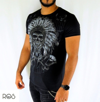 Used Black T-shirt great skull (NEW) in Dubai, UAE