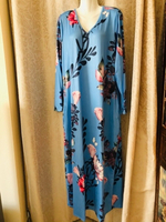 Used Long floral dress size 5XL Asian in Dubai, UAE