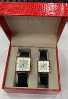Used Pair watches leather with date in Dubai, UAE