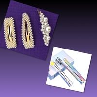 Used Pearl Decor Hair Clips & Lip Balm in Dubai, UAE