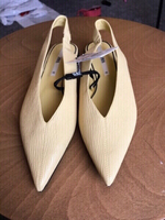 Used Zara light yellow pointed shoes 40(new) in Dubai, UAE