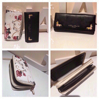 Used Floral wallet with strap & black wallet  in Dubai, UAE