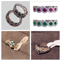 Used 2 silver rings size 7 & 4 rings size 6/7 in Dubai, UAE