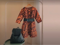 Used Vintage Orange Dress in Dubai, UAE