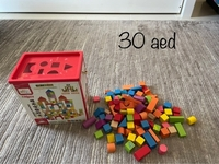 Used Wooden blocks plus car in Dubai, UAE