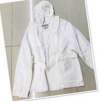 Used White Hoodie jacket for her size M/L ♥️ in Dubai, UAE