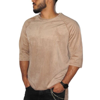 Used Brown T-shirt velvety amazing fabric  in Dubai, UAE