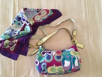 Used Coach bag and matching scarf  in Dubai, UAE