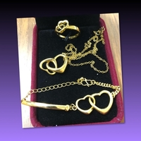 Used LOVE JEWELRY SET/ RING- NECKLACE  in Dubai, UAE